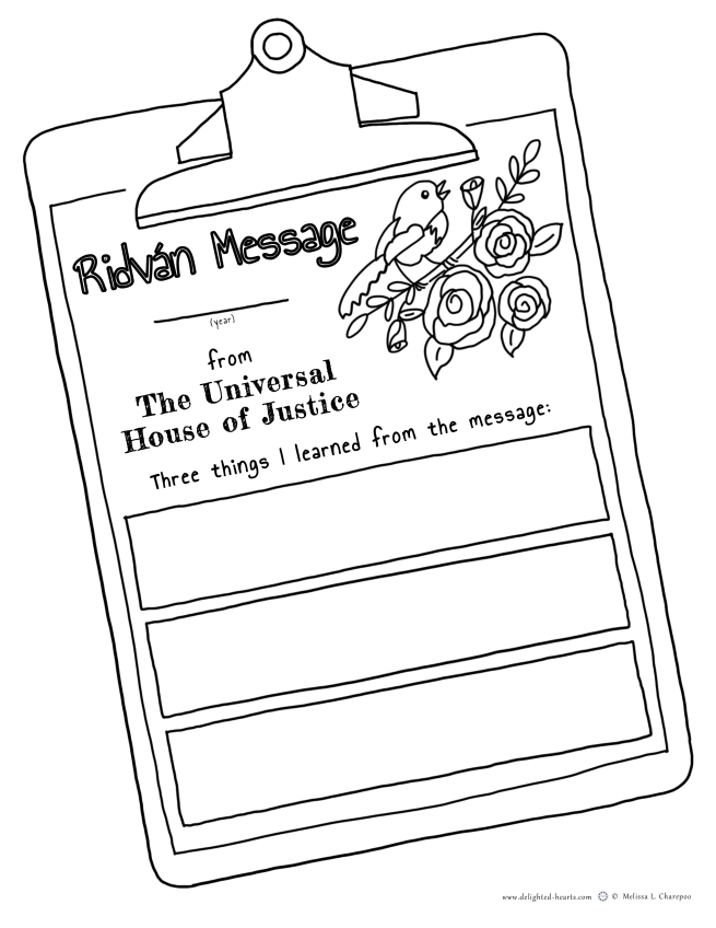 175_DHLLC_Melissa Charepoo_Coloring Page_UHJ_Ridvan Messege