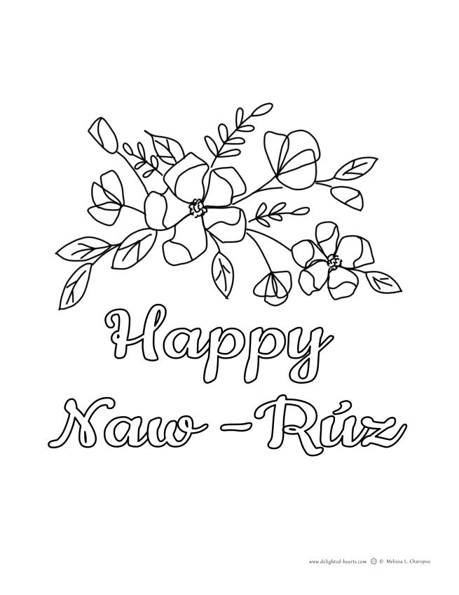Naw-Ruz_176_DHLLC_Melissa Charepoo_Coloring Page_Naw-Ruz