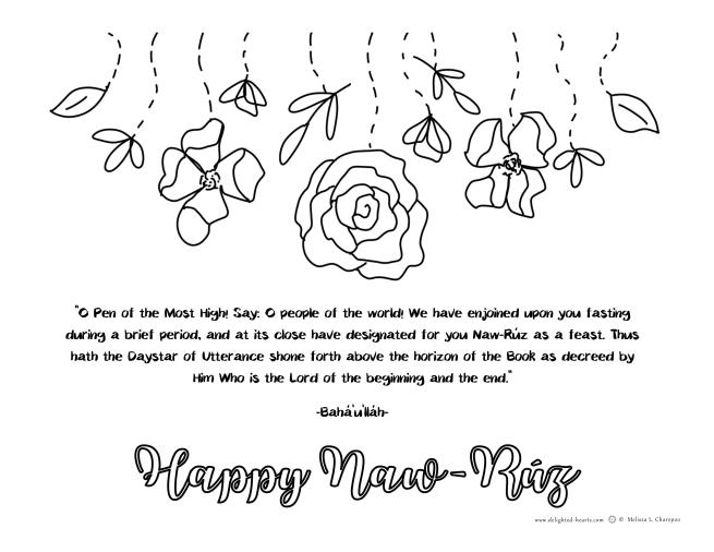 Naw-Ruz_177_DHLLC_Melissa Charepoo_Coloring Page_Naw-Ruz