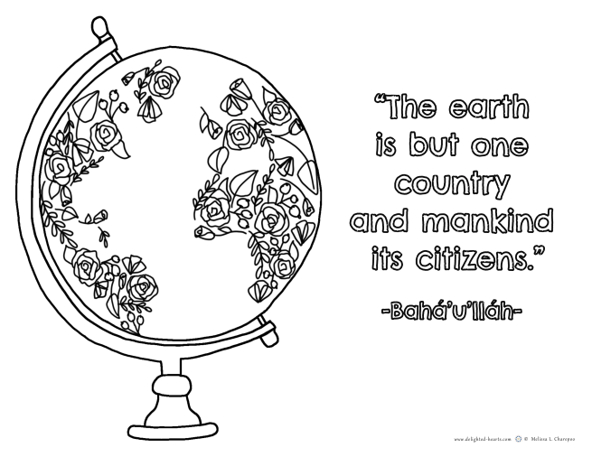 Quote_175_DHLLC_Melissa Charepoo_Coloring Page_The earth is but one country.png
