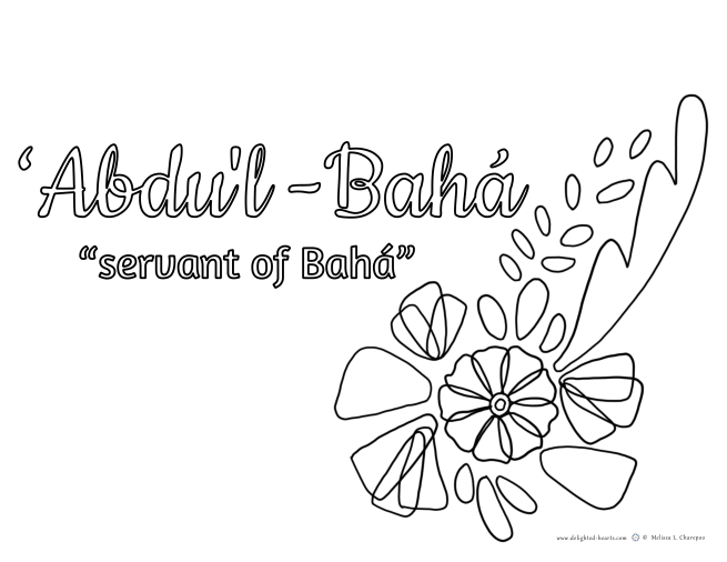 The Master _ 175_DHLLC_Melissa Charepoo_Coloring Page_Day of Covenant_Meaning of Abdul'Bahas title.png