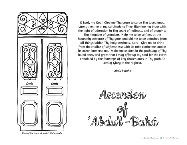 The Master_175_DHLLC_Melissa Charepoo_Coloring Page_Asencion of Abdul Baha