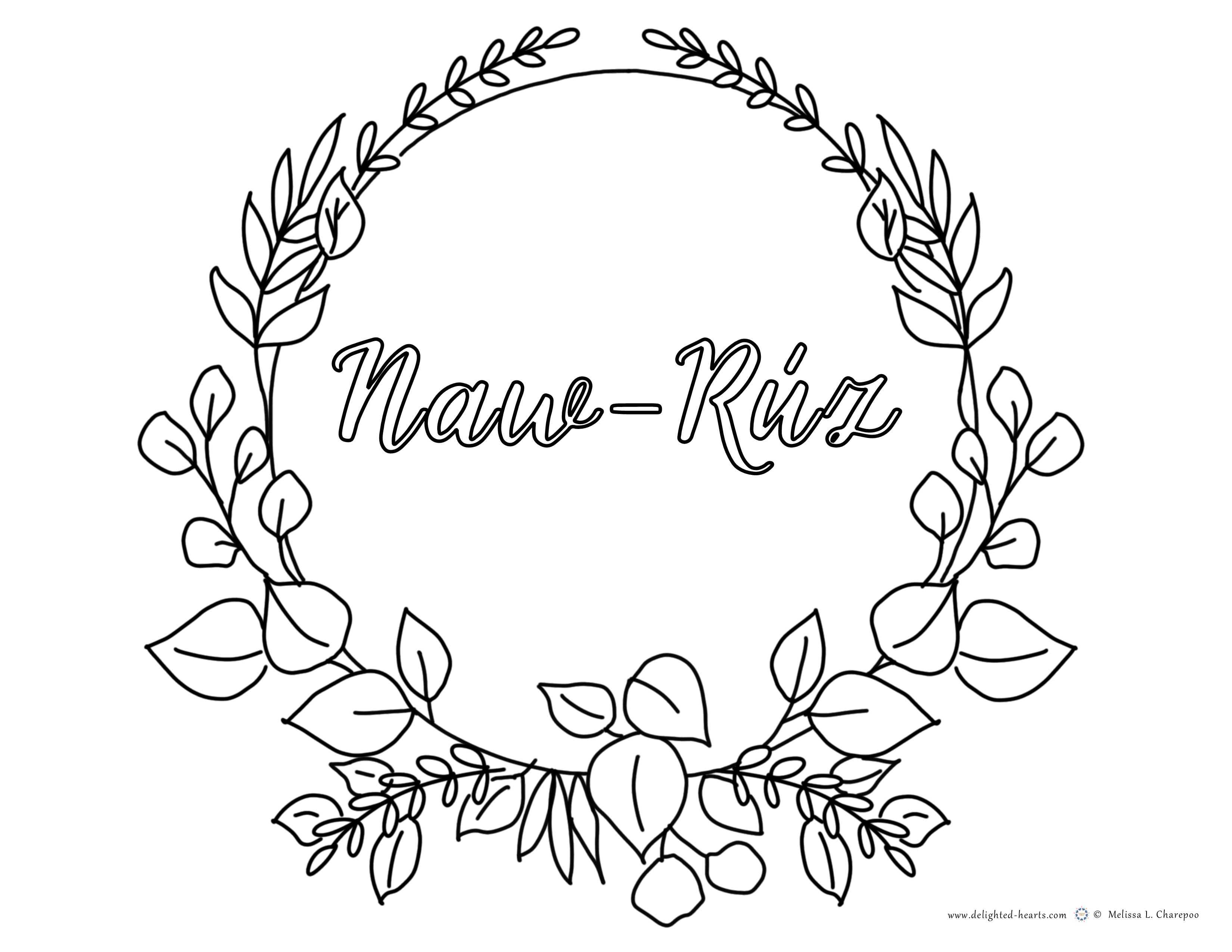 Naw-Ruz_178_DHLLC_Melissa Charepoo_Coloring Page_Naw-Ruz_LeavesWreath.png