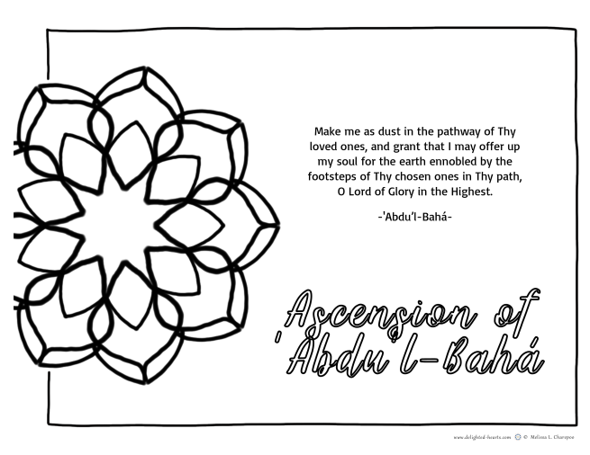The Master_177_DHLLC_Melissa Charepoo_ Ascension of Abdu'l Baha2019